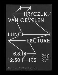 Hiryczuk / van Oevelen2014 Kasper Pyndt #typography