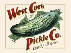 West Cork Pickle Co. Logo #logo #artams #vintage