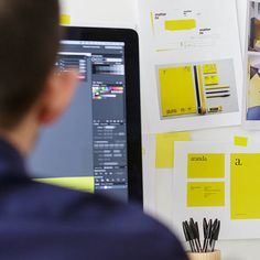Yellow graphic design studio #stationery #yellow #studio