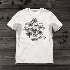 Print Hello #print #horror #halloween #hello #eyes #shirt