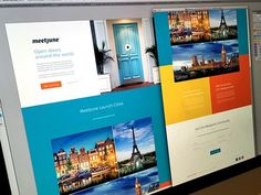MeetJune Landing Page #web