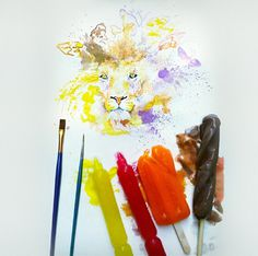 ice-cream-paintings-othman-toma-6 #water #cream #colours #painting #art #ice