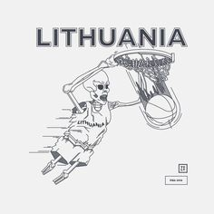 FIBA14 www.tolithuania.com #vector #line #basket #lithuania #infographic #fiba #illustration #sports #linear #eurobasket #skull #net #basketball