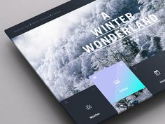 Weather Dashboard / Global Outlook (1) #pattern #weather #ux #portal #ui #dashboard #app #winter