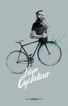 David Despau + Colagene, Illustration Clinic #bike #cyclotaur #creature