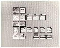 Digibarn: Xerox Star 8010 Interfaces, high quality polaroids (1981) #computer #desktop #interface #pixel #80s #star #xerox