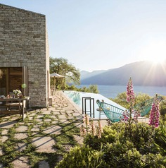 Stone Clad Villa at Lago di Garda - #architecture #house #home #decor #pool #outdoor