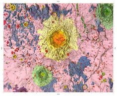 geologic map of the moon