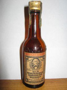 Old Overholt label #whiskey #old #bottle #rye #liquor #label #overholt #1952 #vintage