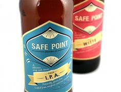 Safe Point Brewing Co. #brewery #beer #design #graphic #label