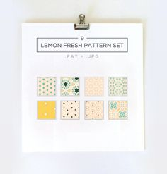 These pretty patterns are perfect for use in your web as well as print projects.