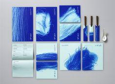 Tumblr #abstract #branding #design #blue #organic #chopsticks