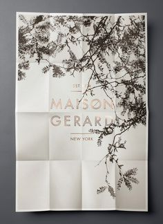 MAISON GERARD #typography #poster #foil