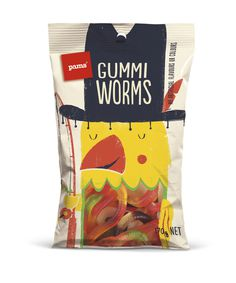 Brother_Design_Pams_Confectionery_Gummy_Worms.jpg #packaging #confectionery #gumme