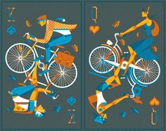 My Poster entry - BLOG - Jeremy Slagle Designer #bicycle #face #cards #poster