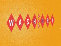 Dribbble - Wash and Dry by Jeff Jarvis #and #diamonds #dry #vintage #wash #laundromat