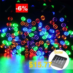 SUPli #Solar #Battery #Powered #Christmas #String #Lights #10M #100 #LED #Dual #Power #Decorative #Fairy #String #Lights #- #COLORFUL