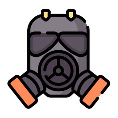 See more icon inspiration related to gas, toxic, danger, gas mask, safety, protection, mask, fire, war, fashion and security on Flaticon.