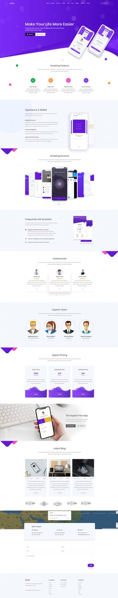 APPOS – App Landing Page Template Bootstrap
