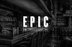 EPIC SMOKEHOUSE on Behance #logo #identity