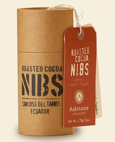askinoise chocolate packaging design 4 #tag #paper #tube