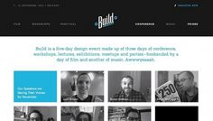 Build Conference 2011 - Web design inspiration from siteInspire #vbvb