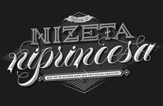 Neither Zeta Nor Princess on Behance #lettering #vector #white #letters #copperplate #black #voltio #enisaurus #welcome #typography