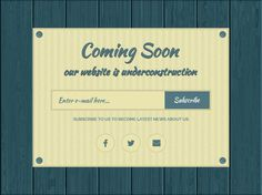 Free Coming Soon UI PSD