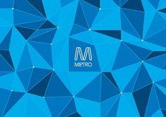 MELBOURNE'S NEW METROPOLITAN RAIL SERVICE | FutureBrand Australia #geometric #angles #metro #logo #brandmark #nodes