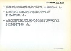 Cheltenham Bold Outline type specimen #type #specimen #typography
