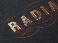 Radial – Branding | Tom Hingston Studio #radial #business #card #black #gold
