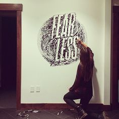 Fearless, Gemma O'Brien #lettering #wall #mural #typography