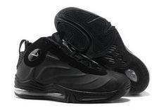 Total Air Foamposite Max Black/Anthracite Nike Basketball Shoes #fashion