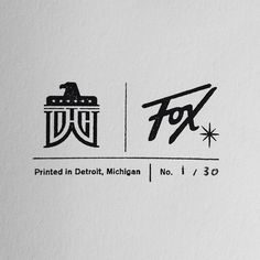 DWTCo. / Fox Collaboration #mark #logomark #detroit #stamp #graphic #logo