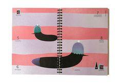 Taschenkalender, www.prinzapfel.com #wochenplaner #timeplanner #calendar #prinz #kalender #illustration #diary #doodles #taschenkalender #apfel