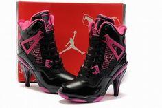 Nike Air Jordan 4 Heels Black/HotPink #shoes