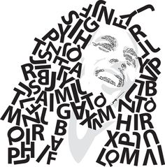 Bob Marley Typographic Portrait by Matt Hodin www.Behance.net/MattHodin