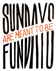 Sundays / Fundays - Hello Jon - Illustration & Hand Drawn Type #jon #sterlino