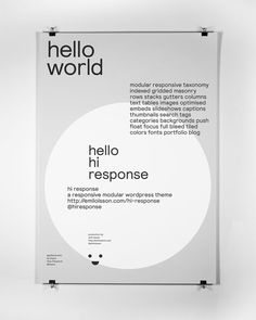 Hi Response. Applied Promo. — Boyce — Design and Art Direction #poster