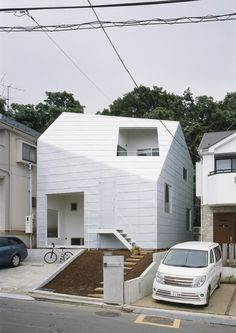 The Fascination of White Minimalism: House With Gardens in Japan #architecture #minimalism