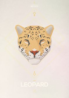 Big Cats - Hadrien Degay Delpeuch #leopard #vector #cat #paper #illustration #minimal #animal #8bit
