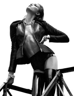 Karlie Kloss Topless by Greg Kadel for Numero 08 #fashion #women #mens #sexy