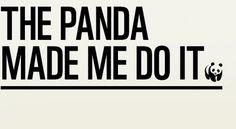The Panda Made Me Do It   WWF UK #panda #design #website #nature #wwf #typography