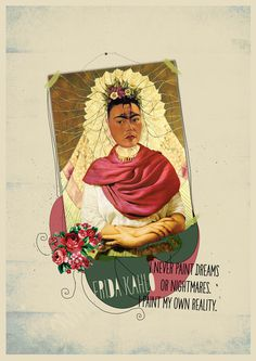 ART MOVEMENTS - COLLAGE #kahlo #illustration #paint #poster #art #collage #frida
