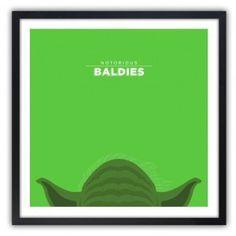 Notorious Baldie YODA by Mr Peruca Print 60x60cm #print