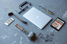 Apple Devices Workshop Mockup #office #desk