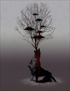 War of the Wolves by Nivbed - Justin Cherry - CGHUB #blood #illustration #wolf
