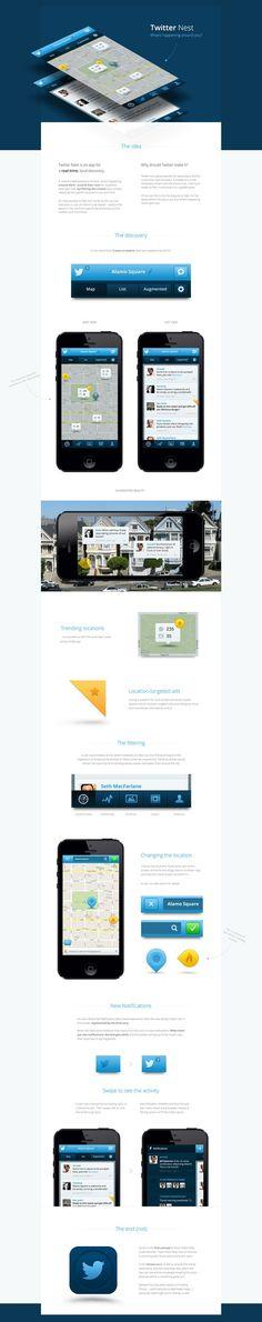 Nest Case Study #ux #clean #ui #simple #app #mobile #twitter #ios #minimalist