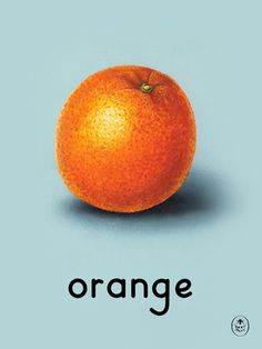 orange Art Print by Ladybird Books Easyart.com #print #design #retro #artprints #vintage #art #bookcover