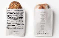 Lupains — designed by Les Bons Faiseurs, France #packaging #france #bread #grains
